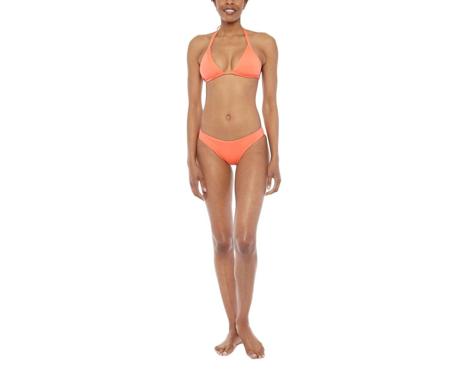 428b83a3c3dcf Seafolly Goddess Slide Halter Ties Triangle Bikini Top - Nectarine in  Orange - Lyst
