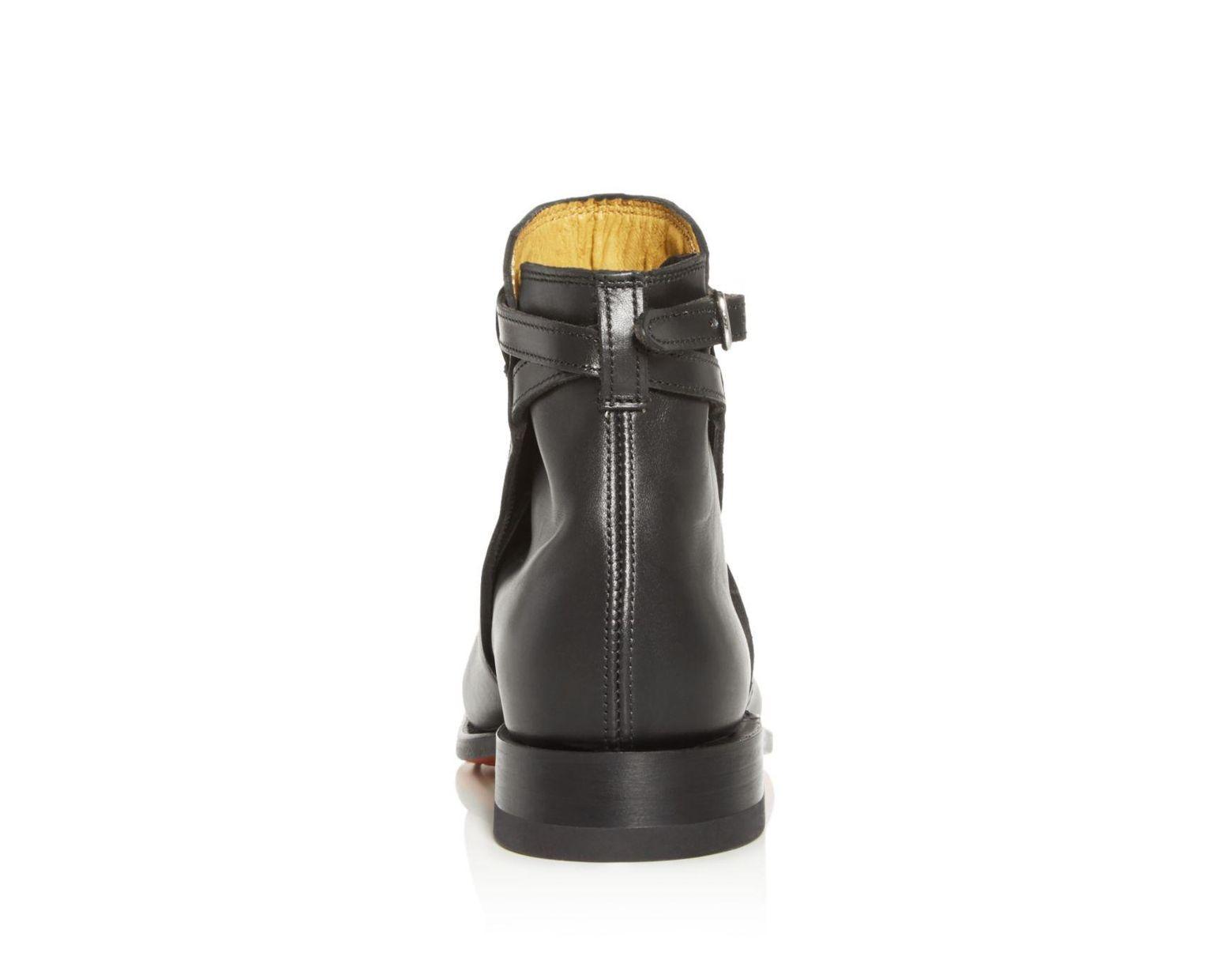 d3b0126304e Black Men's Stockman's Leather Buckle Boots