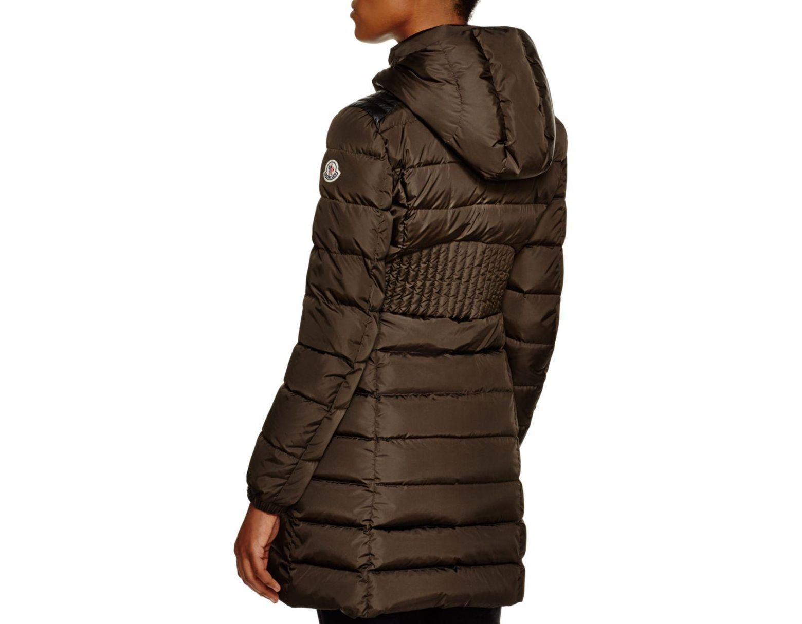 54ae47586 Women's Brown Orophin Leather Shoulder - Inset Down Coat
