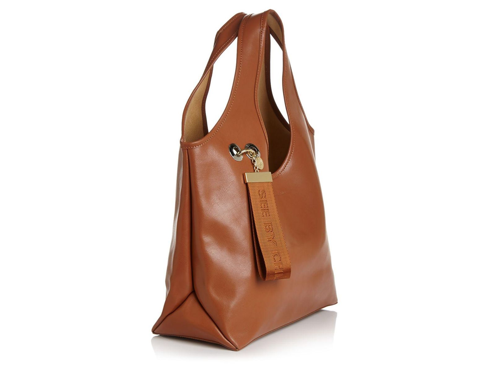 c891fb4d3d5 See By Chloé Jay Large Logo Tag Leather Tote in Brown - Save 30% - Lyst