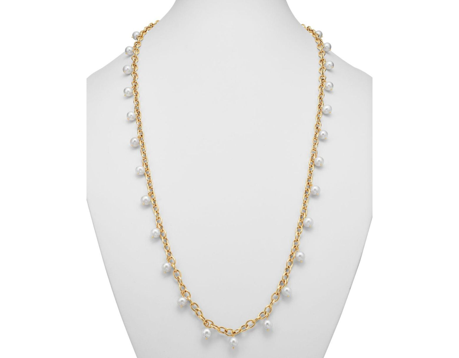 e8d6758443526 Women's Metallic Cultured Freshwater Pearl Tin Cup Necklace In 14k Yellow  Gold