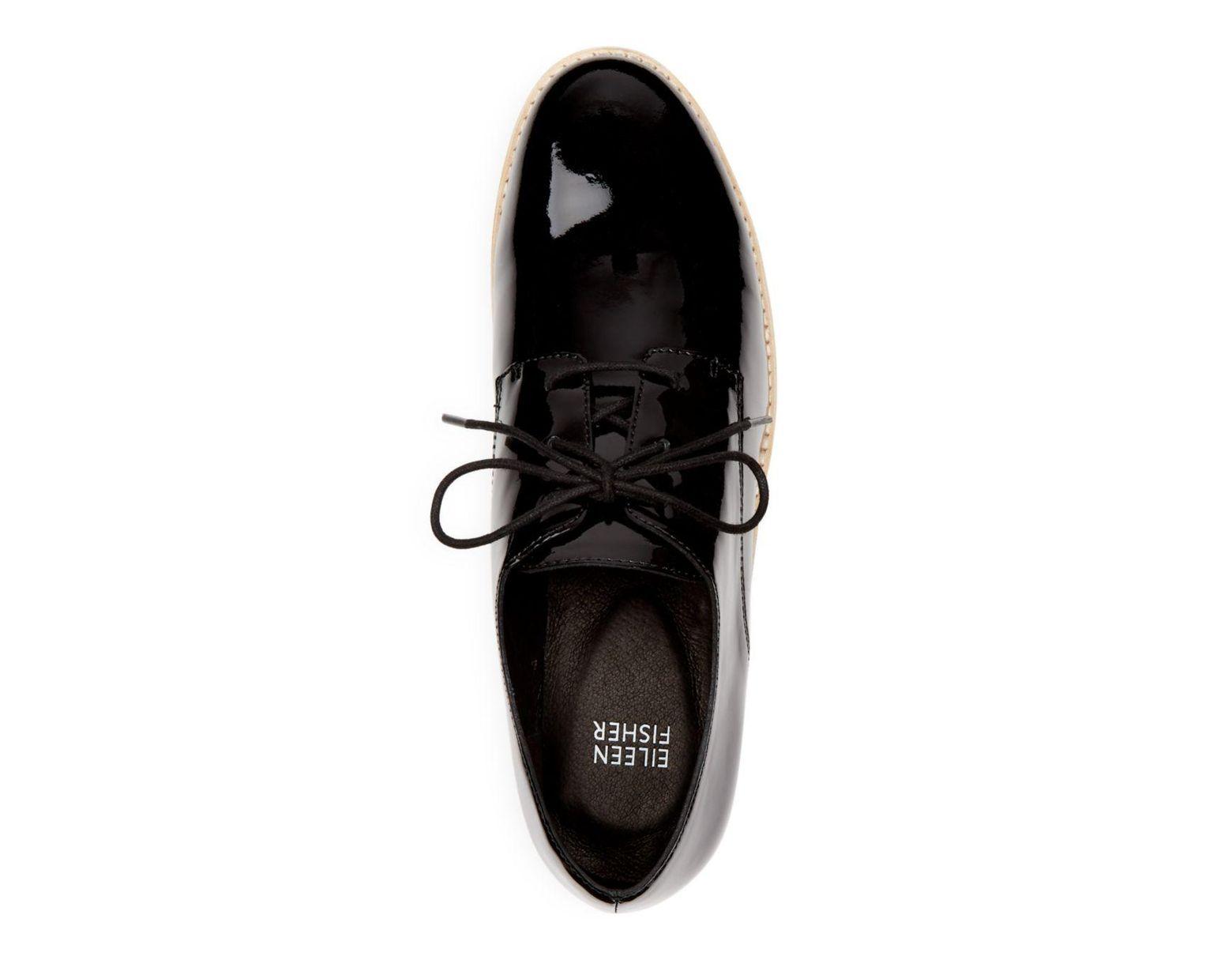 73e420b89d6 Black Women's Eddy Patent Leather Plain Toe Platform Loafers