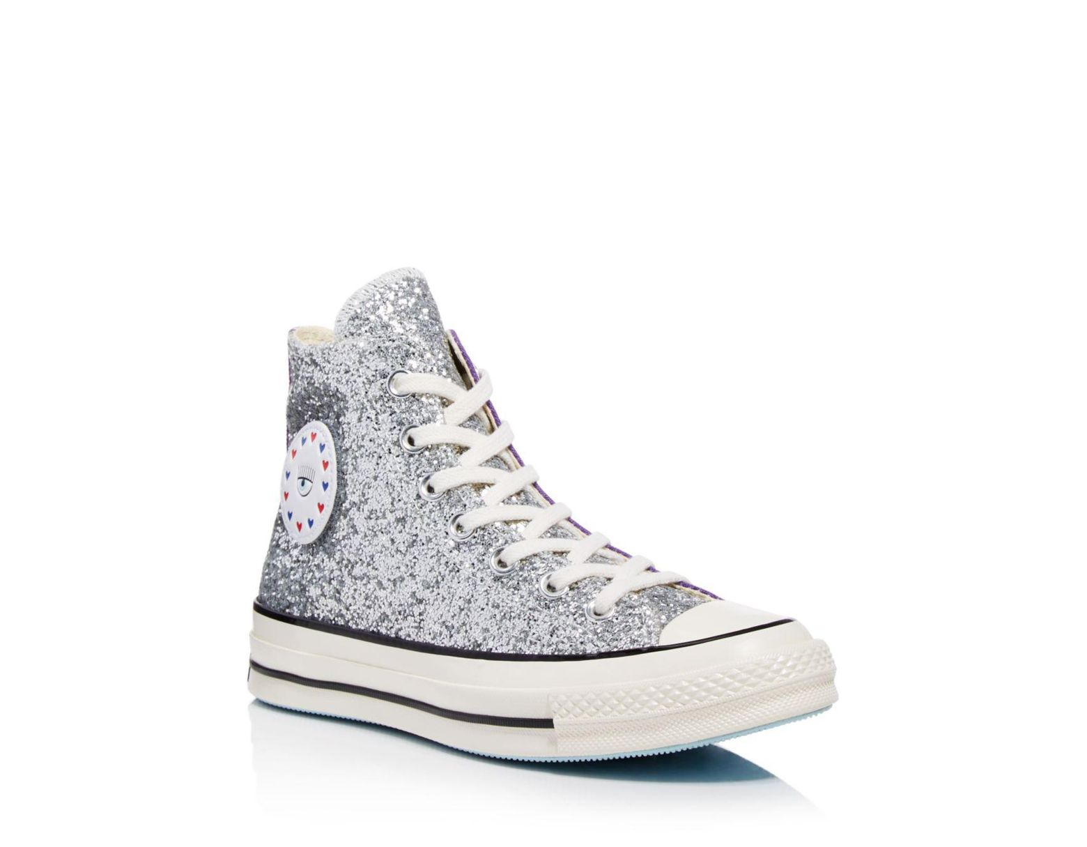 a18758cdecb4 Converse X Chiara Ferragni Women's Chuck Taylor Tillands Glitter High Top  Sneakers in Purple - Lyst