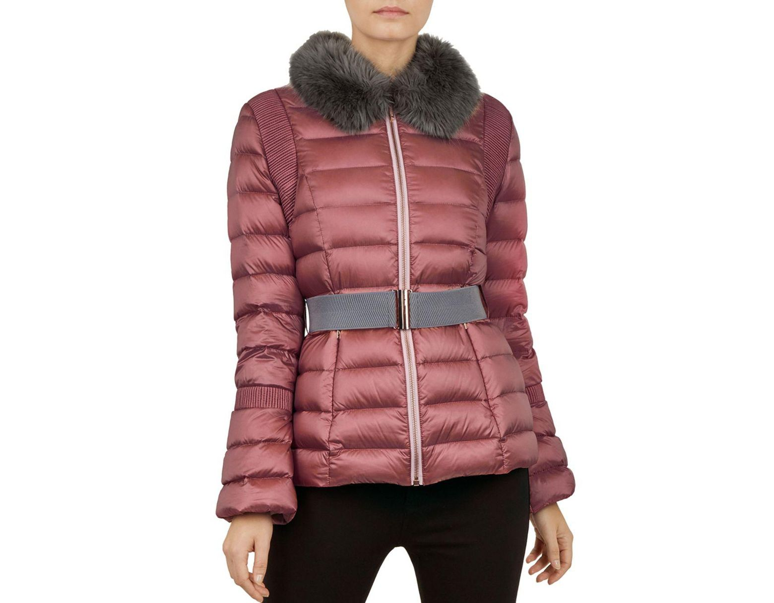 f0accffaf Women's Pink Yelta Quilted Down Jacket