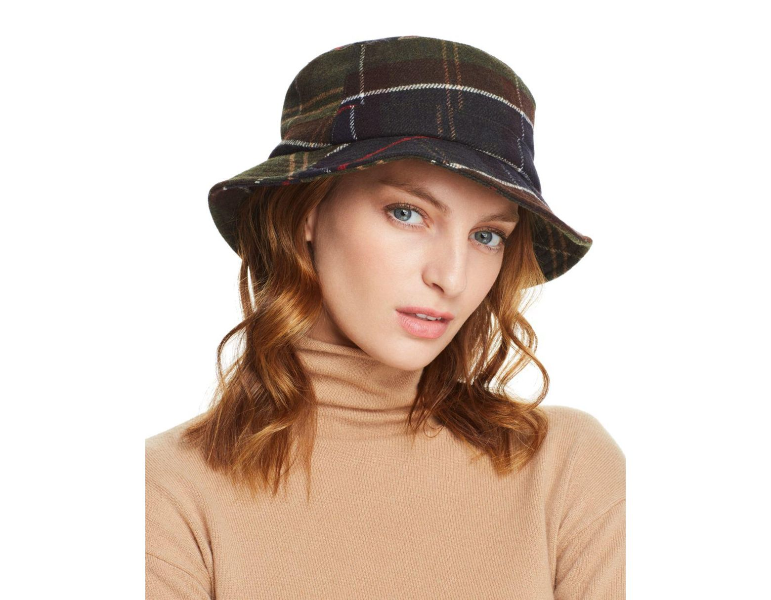 a69231b5e67f3 Barbour Galloway Plaid Bucket Hat in Brown - Lyst