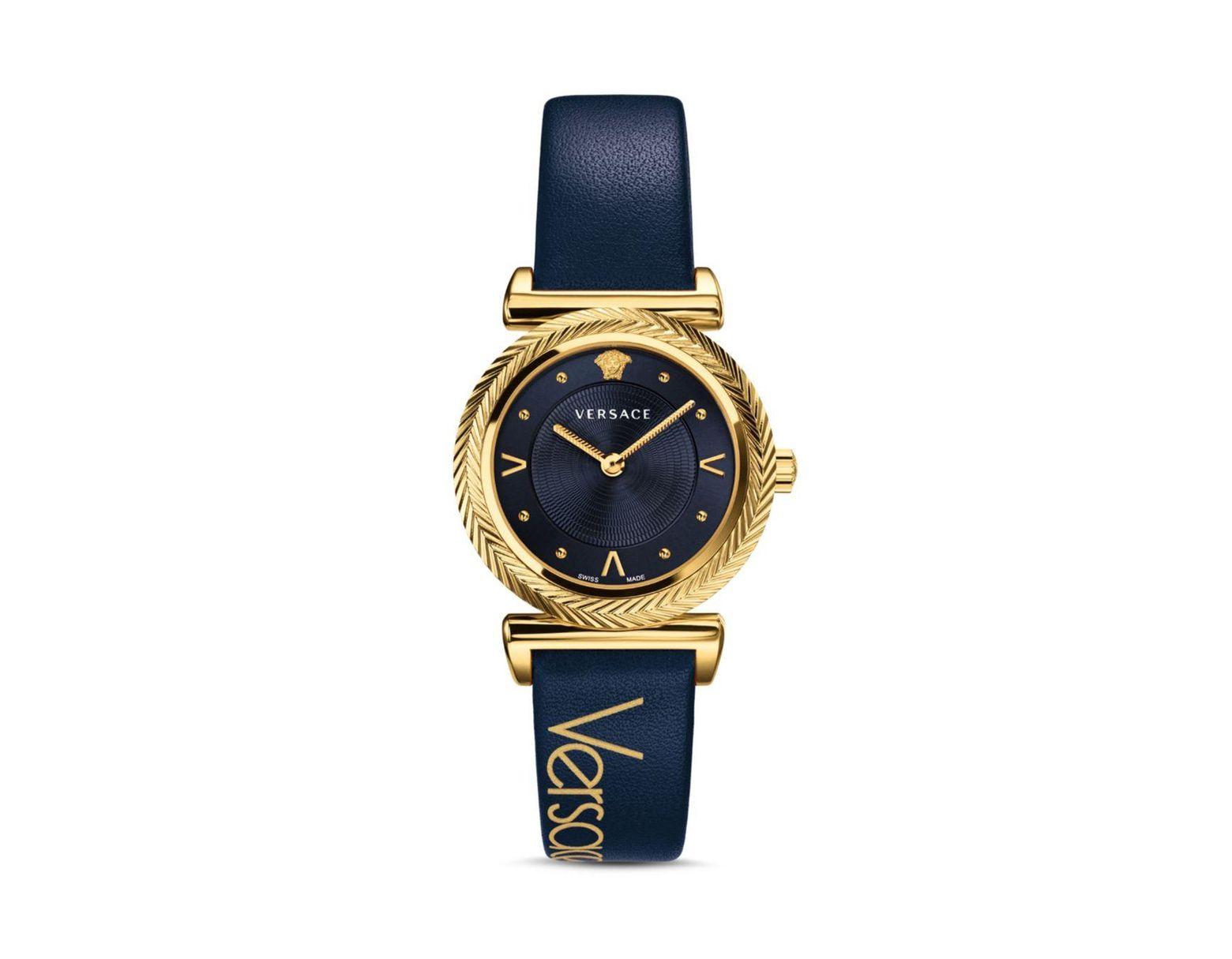 263818975b Women's Blue Collection V - Motif Vintage Logo Watch