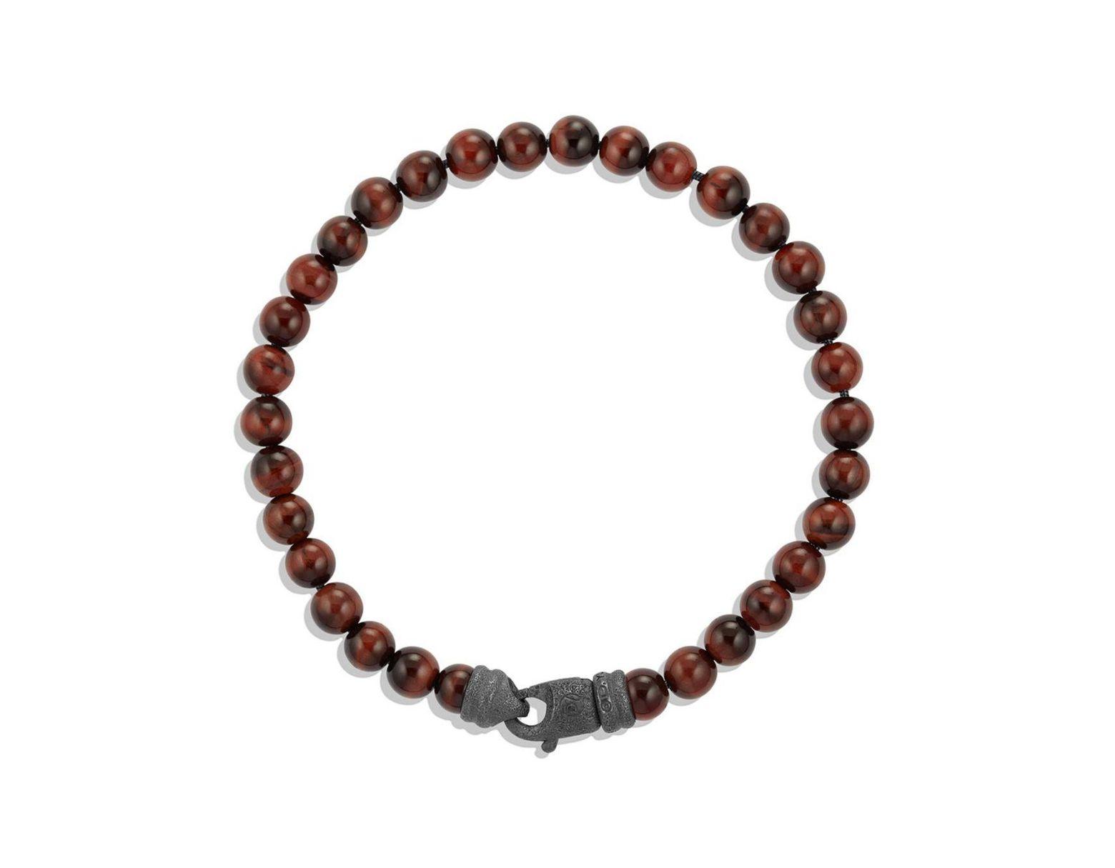 ca18744c7e832 Men's Brown Spiritual Bead Tiger'S Eye Bracelet