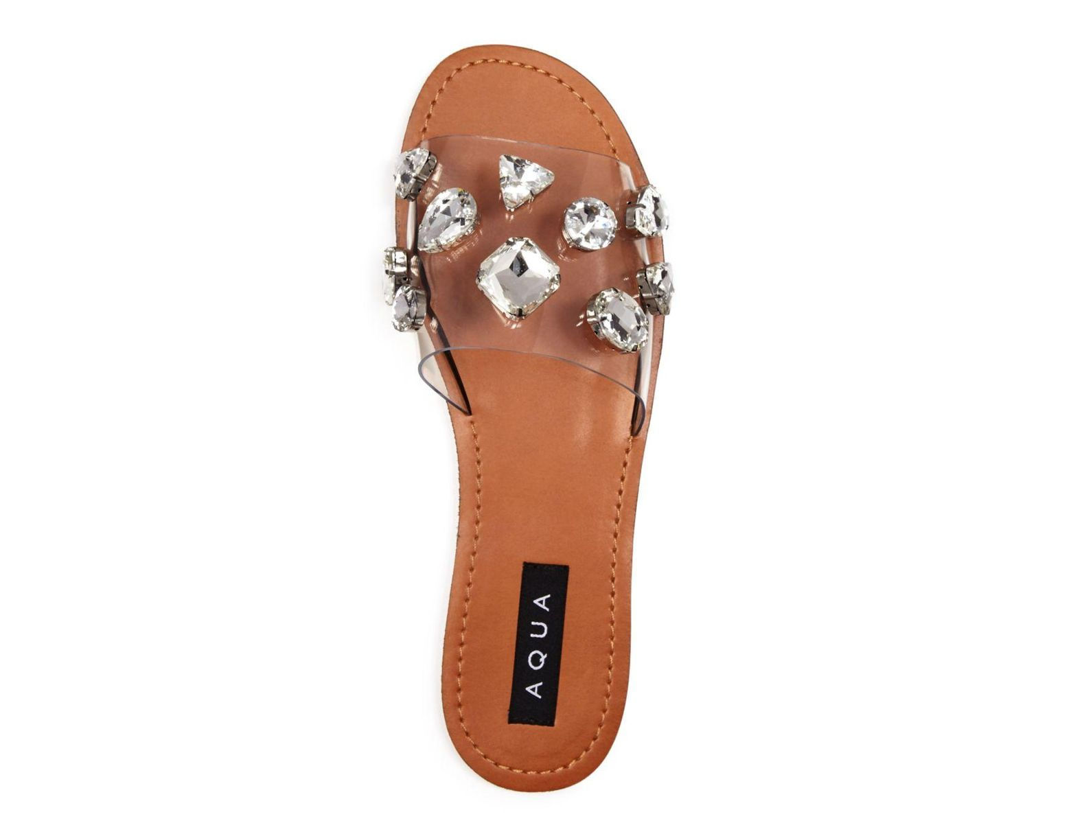 Embellished Clear Twink Crystal Slide Women's Sandals wN0vmnO8