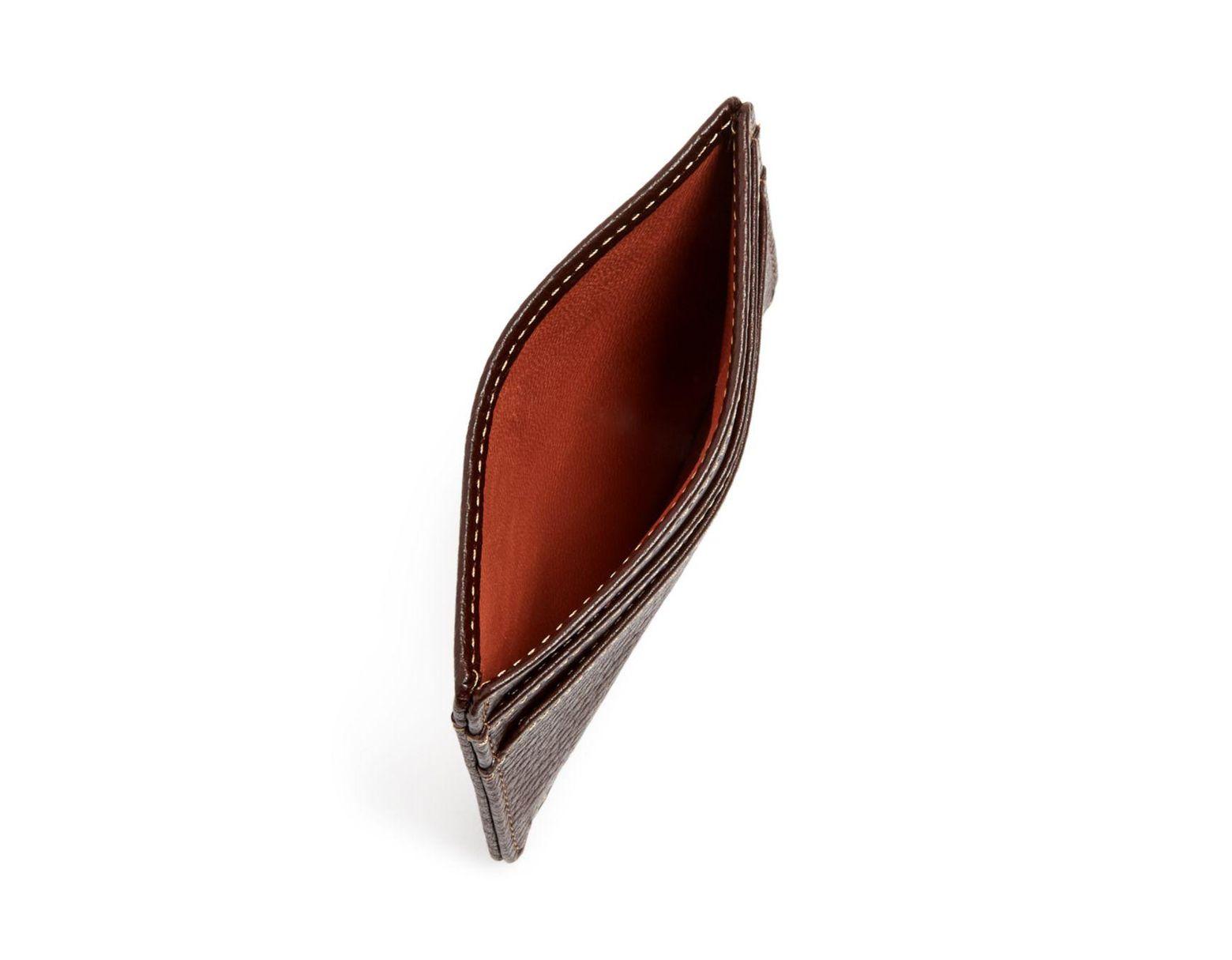 fff0bf354 Boconi Tyler Weekender Leather Card Case in Brown for Men - Lyst