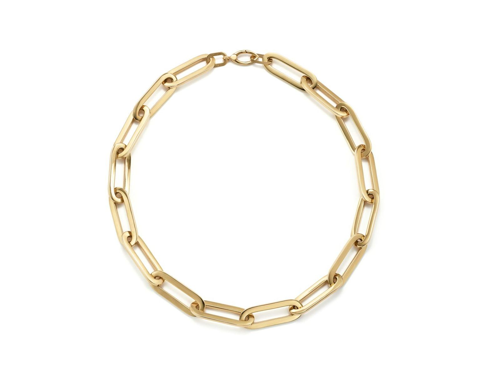 8dd357f113b Women's Metallic 14k Yellow Gold Large Link Necklace