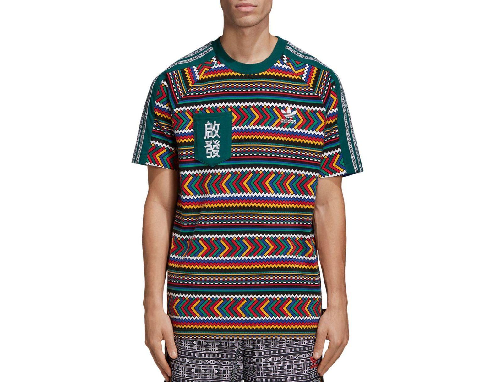 best sneakers 438fc 6494d adidas Originals X Pharrell Williams Solar Hu Geometric - Print Pocket Tee  for Men - Lyst