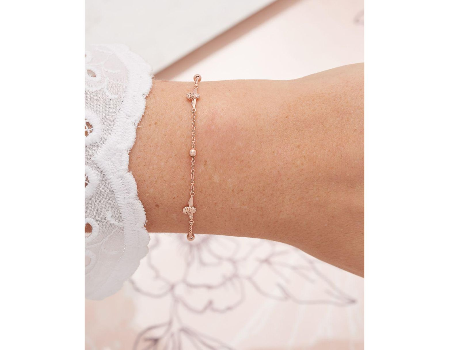 dcf76b3cd Olivia Burton 3d Bee And Ball Bracelet in Metallic - Save 52% - Lyst