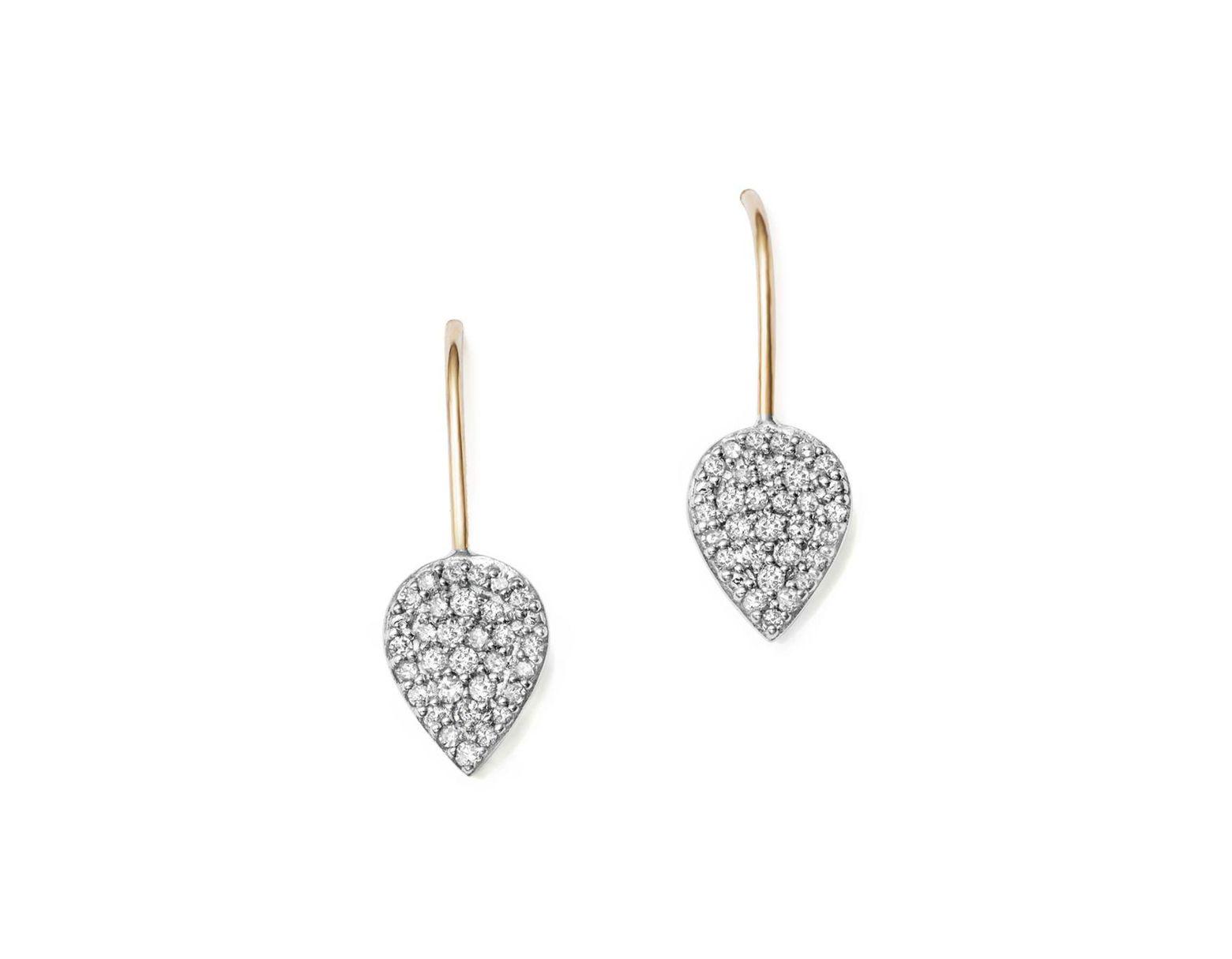 2a278526d Adina Reyter Sterling Silver And 14k Yellow Gold Pavé Diamond Teardrop  Earrings in Metallic - Lyst