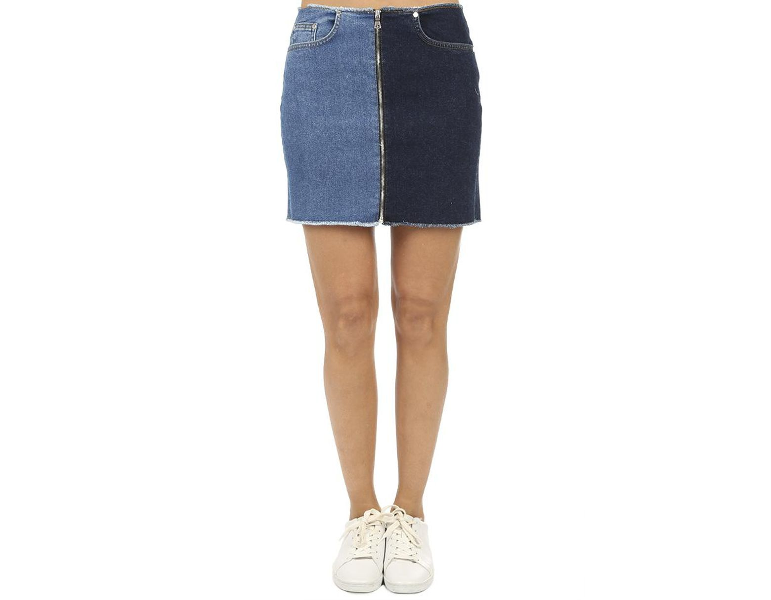 d2c507ba8d Cotton Citizen Mercer Two-tone Zip Mini Skirt in Blue - Save 25% - Lyst