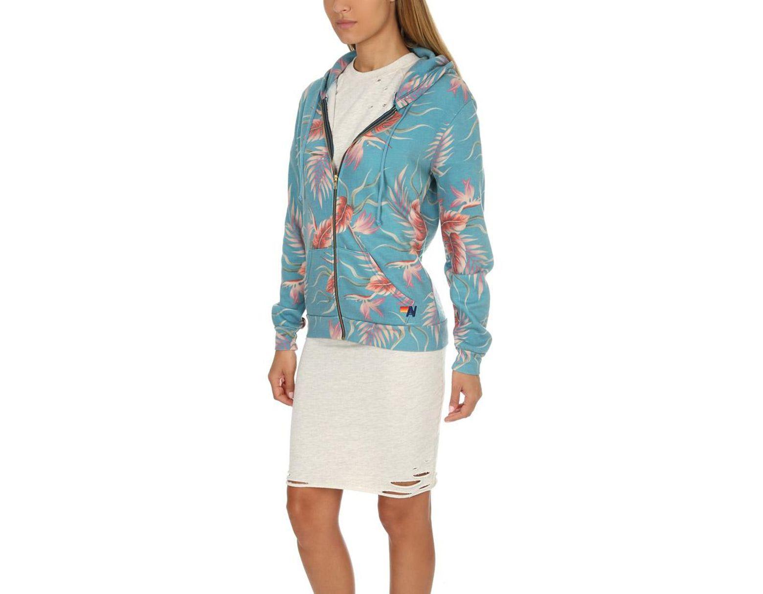 a871823973 Women's Blue Kauai Zip Hoodie