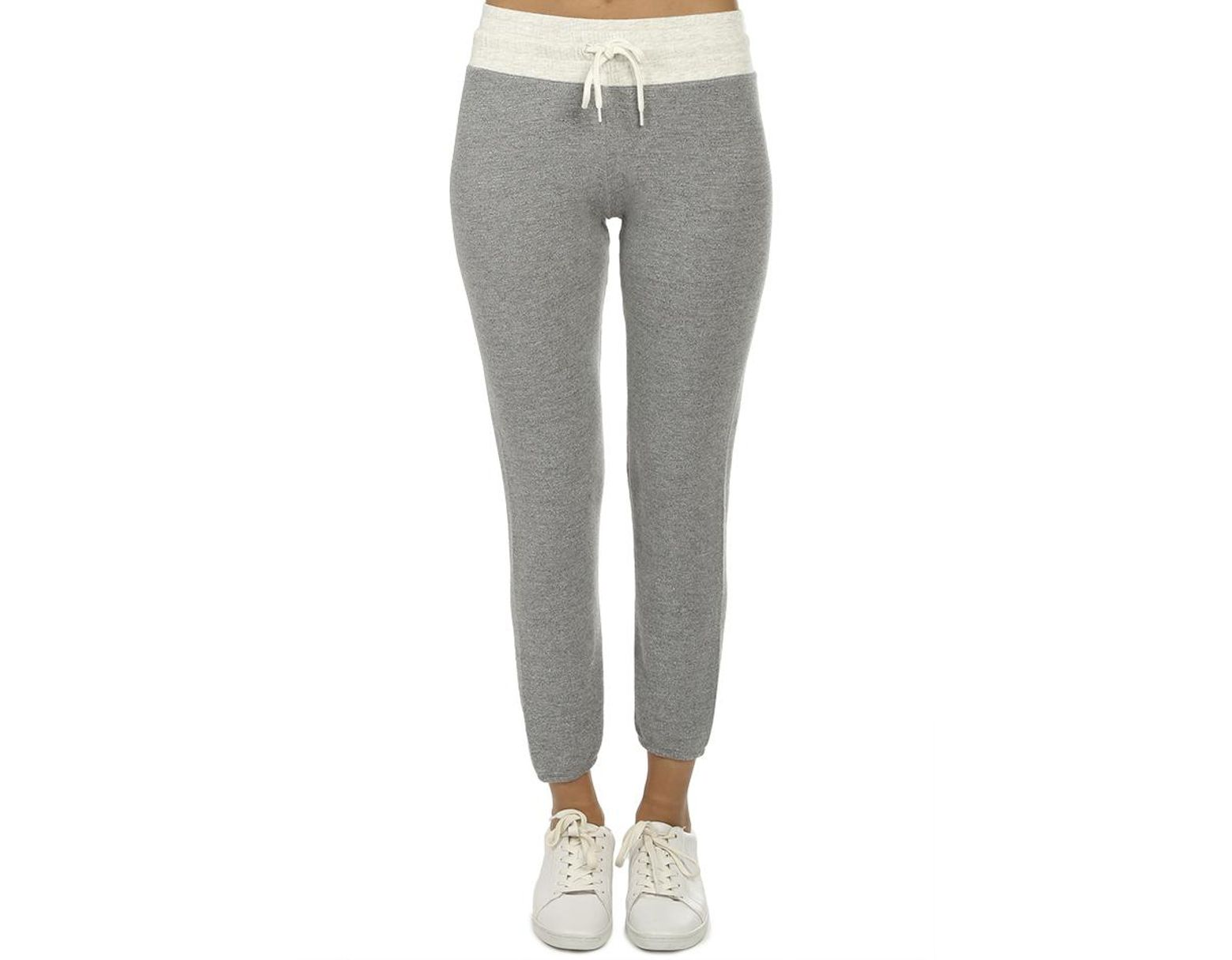 f14f4896ea Monrow Two Tone Vintage Sweatpants Ash/heather in Gray - Lyst