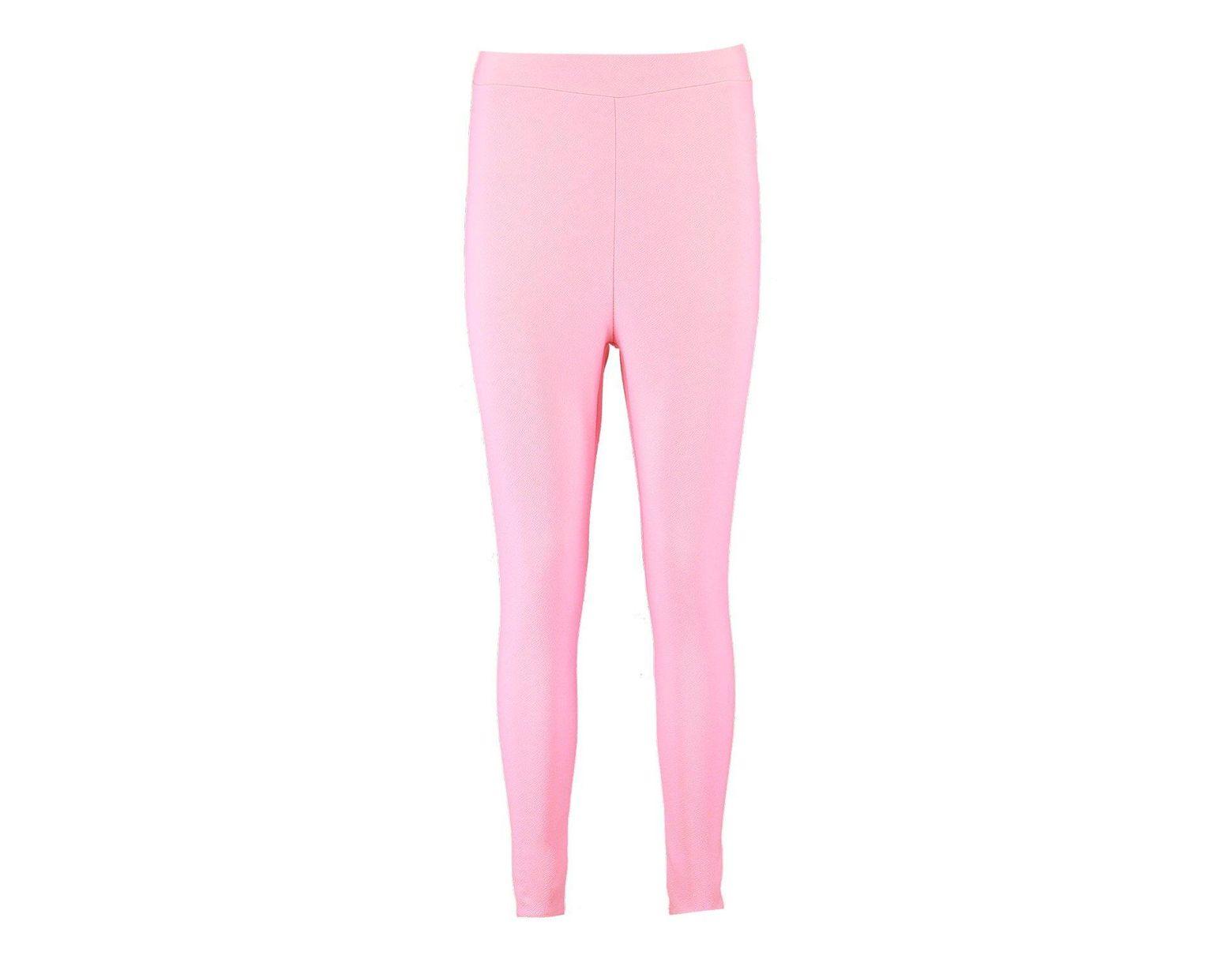 56662caf8426e Boohoo Pastel Crepe High Waist Leggings in Pink - Lyst