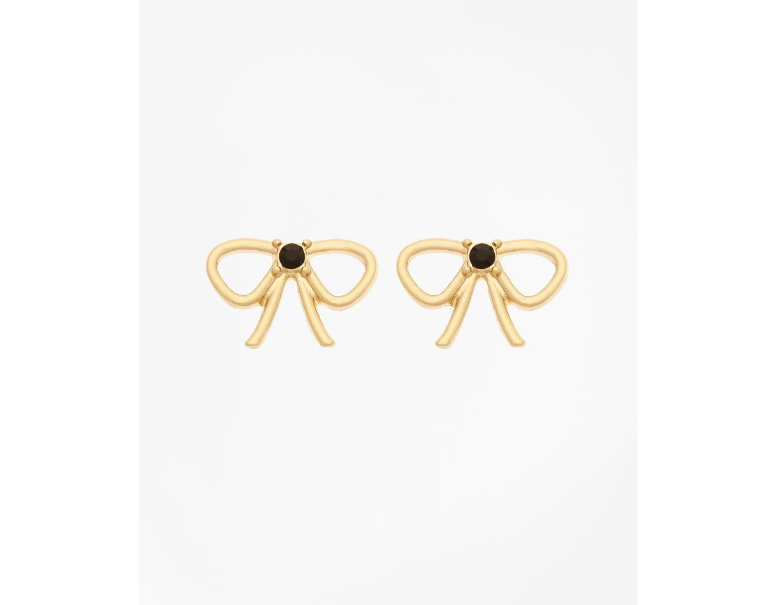 Women S Metallic Bow Stud Earrings