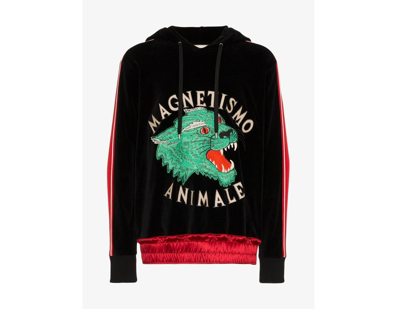 60f81ad9 Gucci Magnetismo Animale Chenille Sweatshirt in Black for Men - Lyst