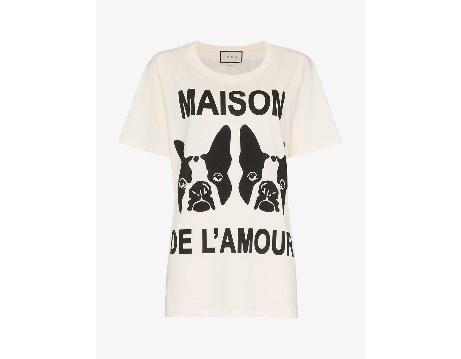 054f6aa08a Gucci Maison De L'amour T-shirt With Bosco And Orso in White - Save 50% -  Lyst