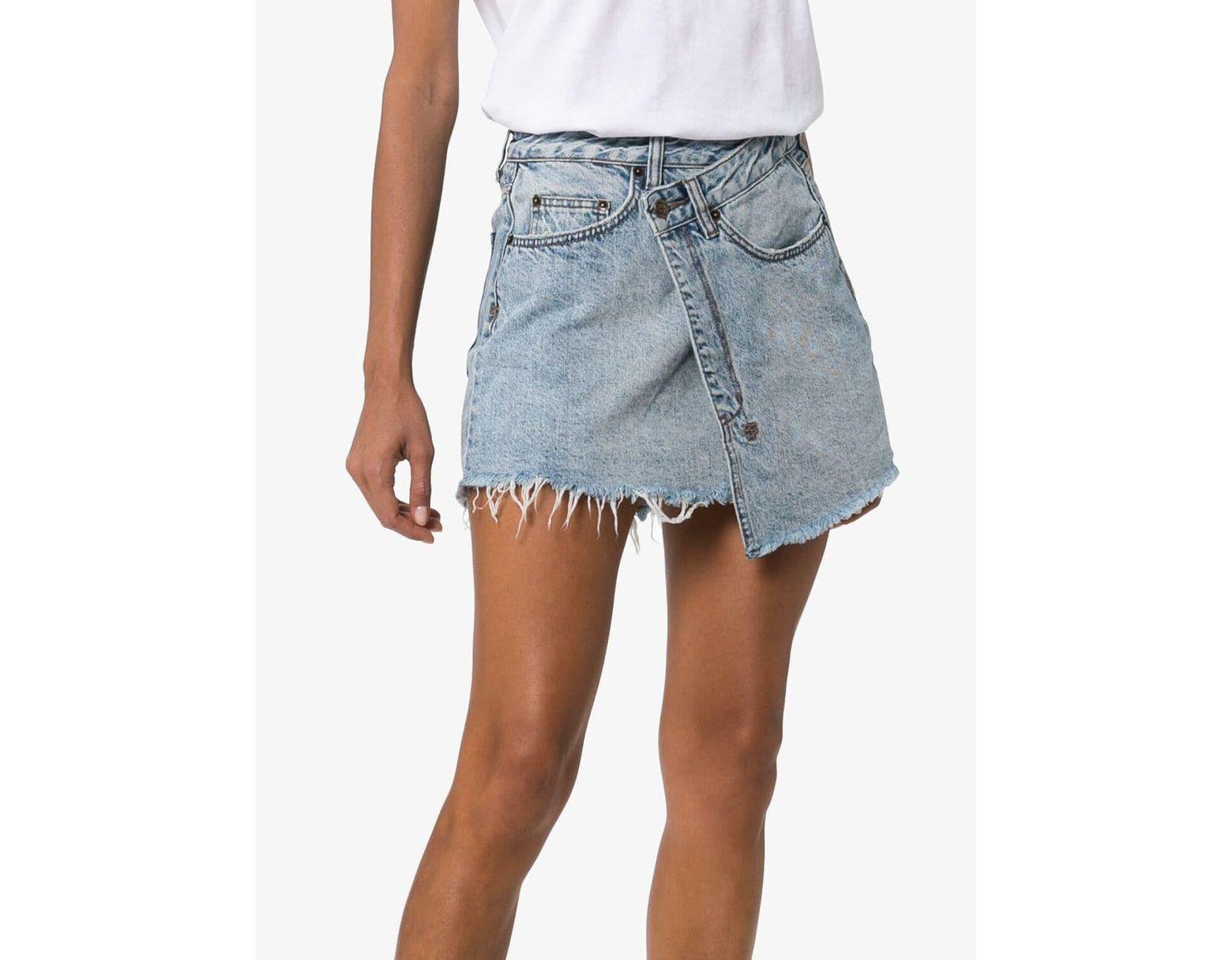 5c8aa8c8a Ksubi Rap Asymmetric Hem Denim Mini Skirt in Blue - Lyst