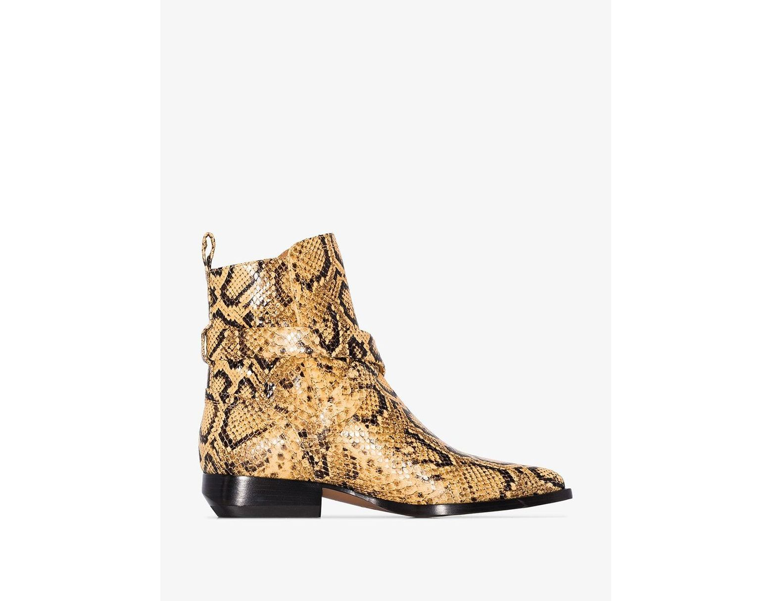 3f9df139dd5 Women's Wheat Yellow Rylee 30 Snake Effect Ankle Boots