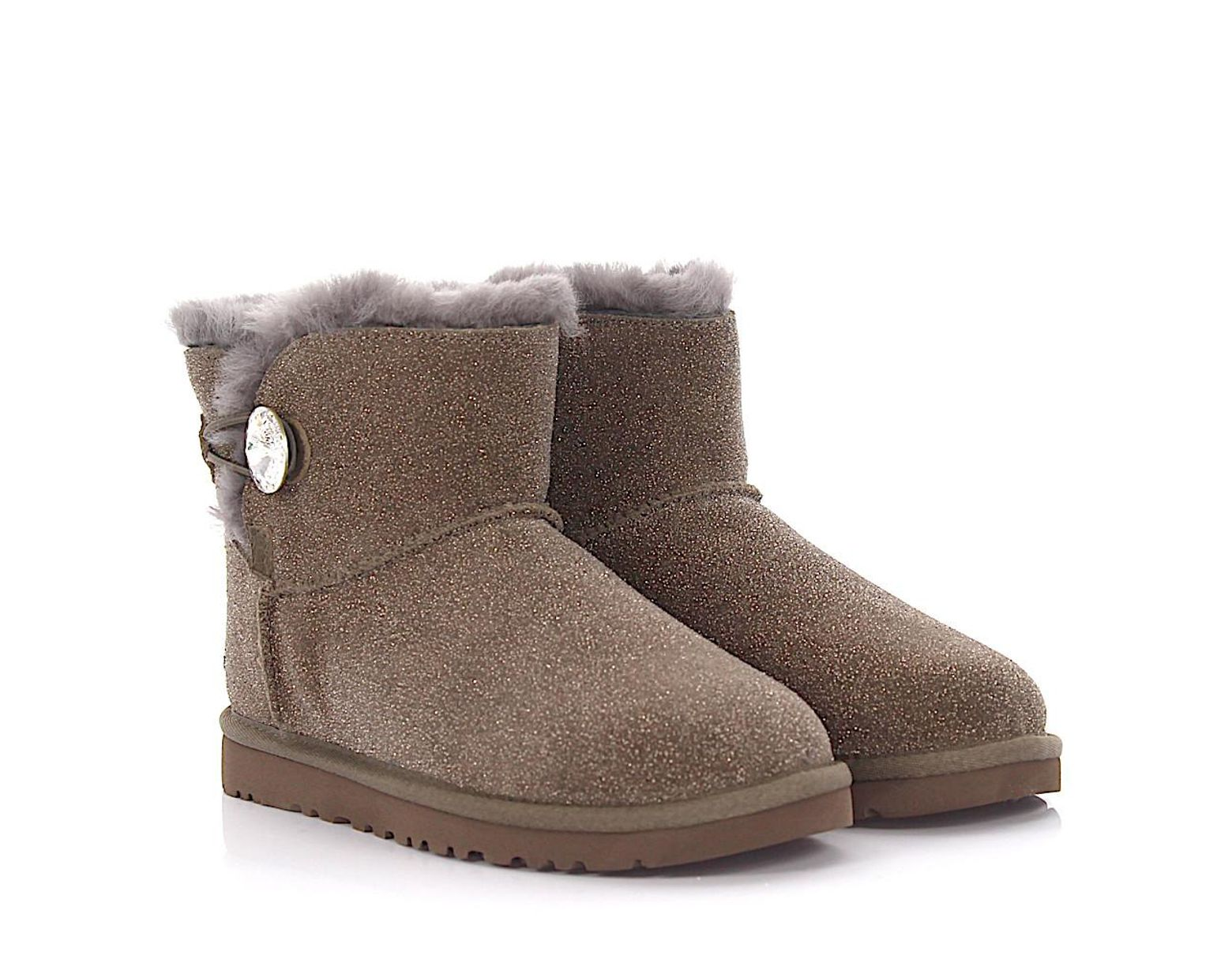 cb4fcefcaa2 Women's Ankle Boots Gray Mini Bailey Button Bling