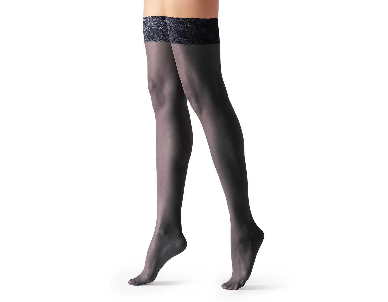 ULTRA THIGH HI 200 DEN Opaque Stockings MATTE DARK GRAY