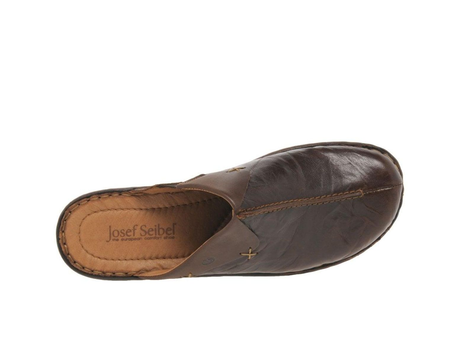 6cabb8af Josef Seibel Catalonia Cerys Womens Leather Clogs in Brown - Lyst