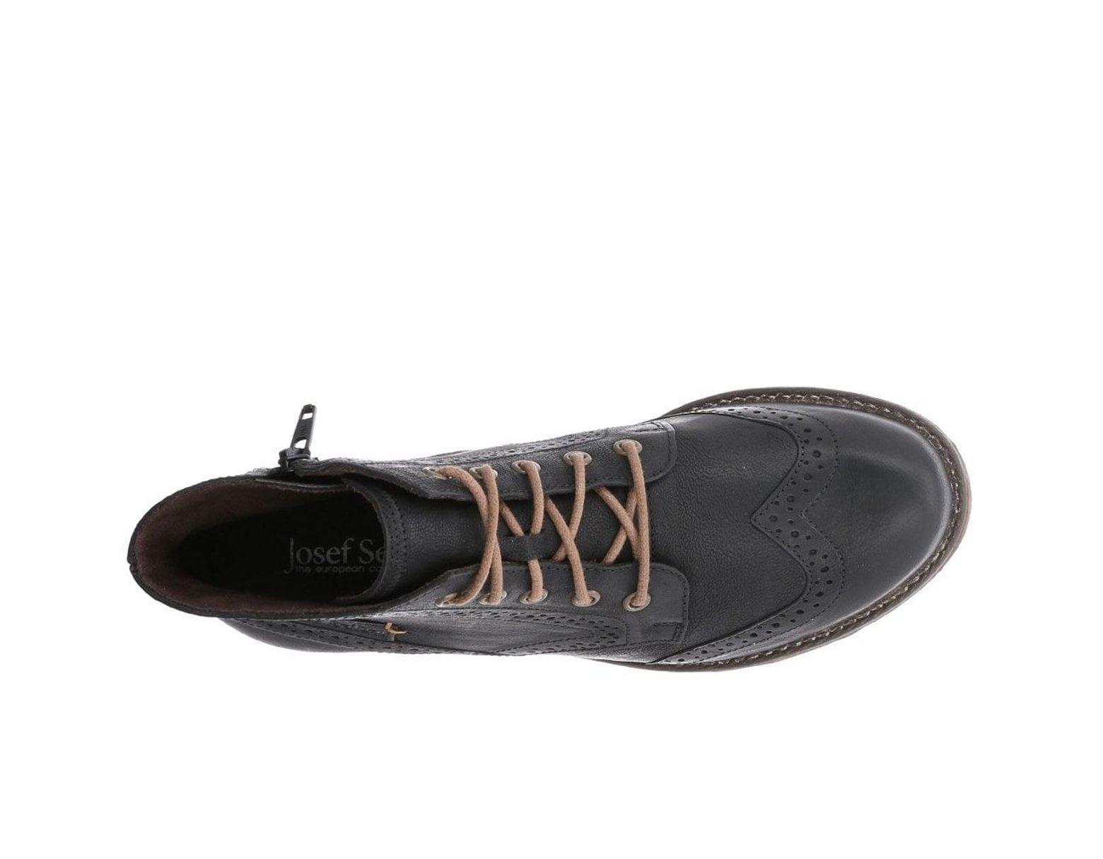 07d2c3cec70 Black Sienna 74 Womens Brogue Ankle Boots