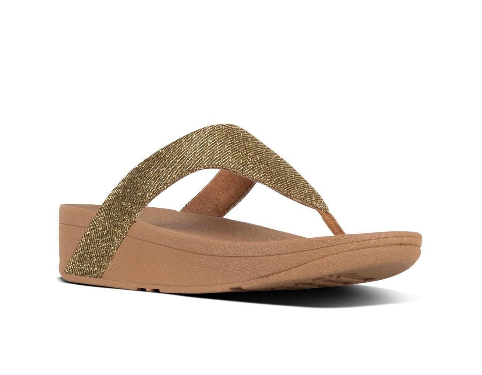 a7d3c401d Lyst - Fitflop Lottie Glitzy Womens Toe Post Sandals
