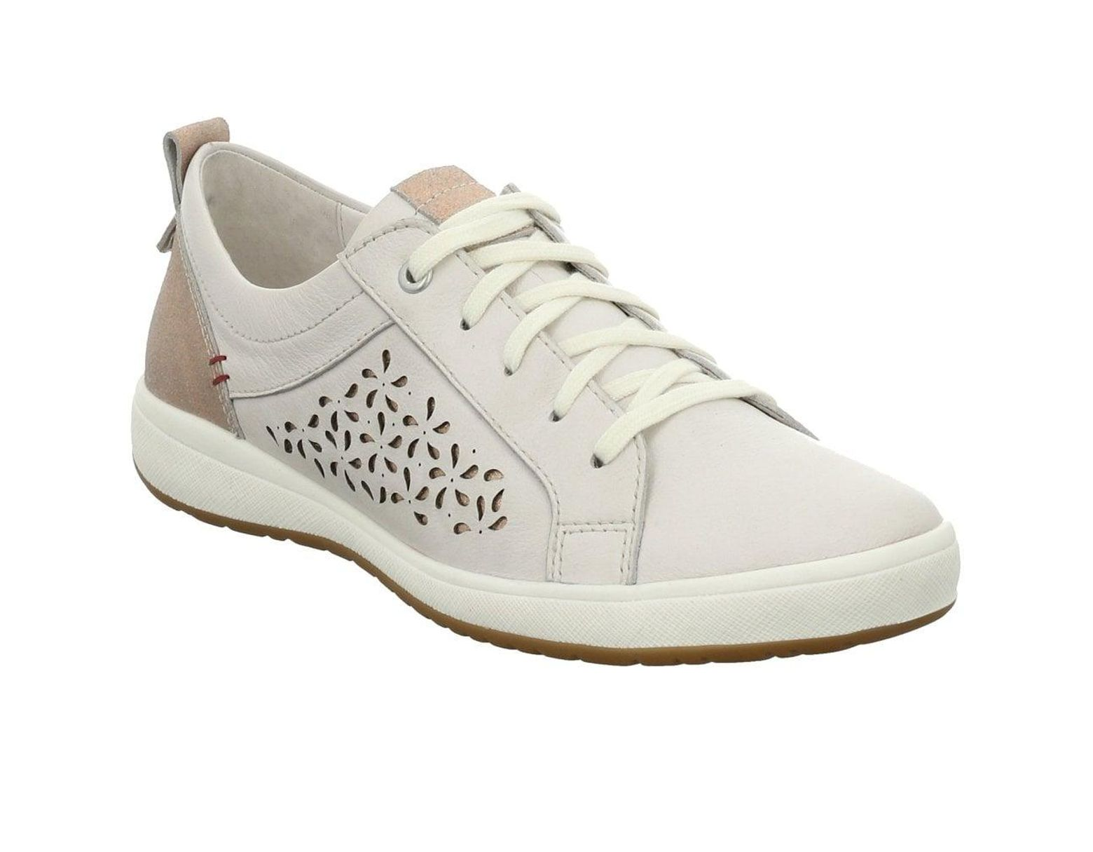 1499ee30 Josef Seibel White Leather 'caren 06' Casual Trainers in White - Lyst