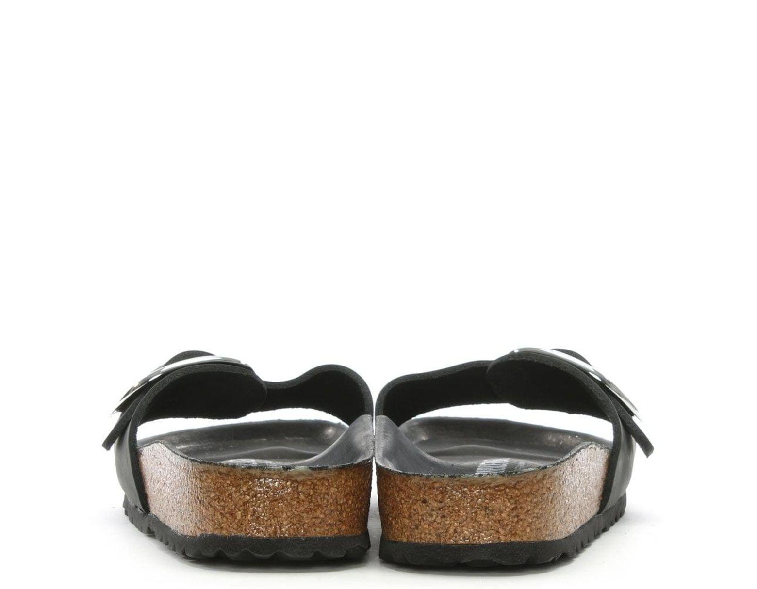 8e5a446ec3f Birkenstock Birkenstock Madrid Big Buckle Black Leather Mule in Black -  Save 3% - Lyst