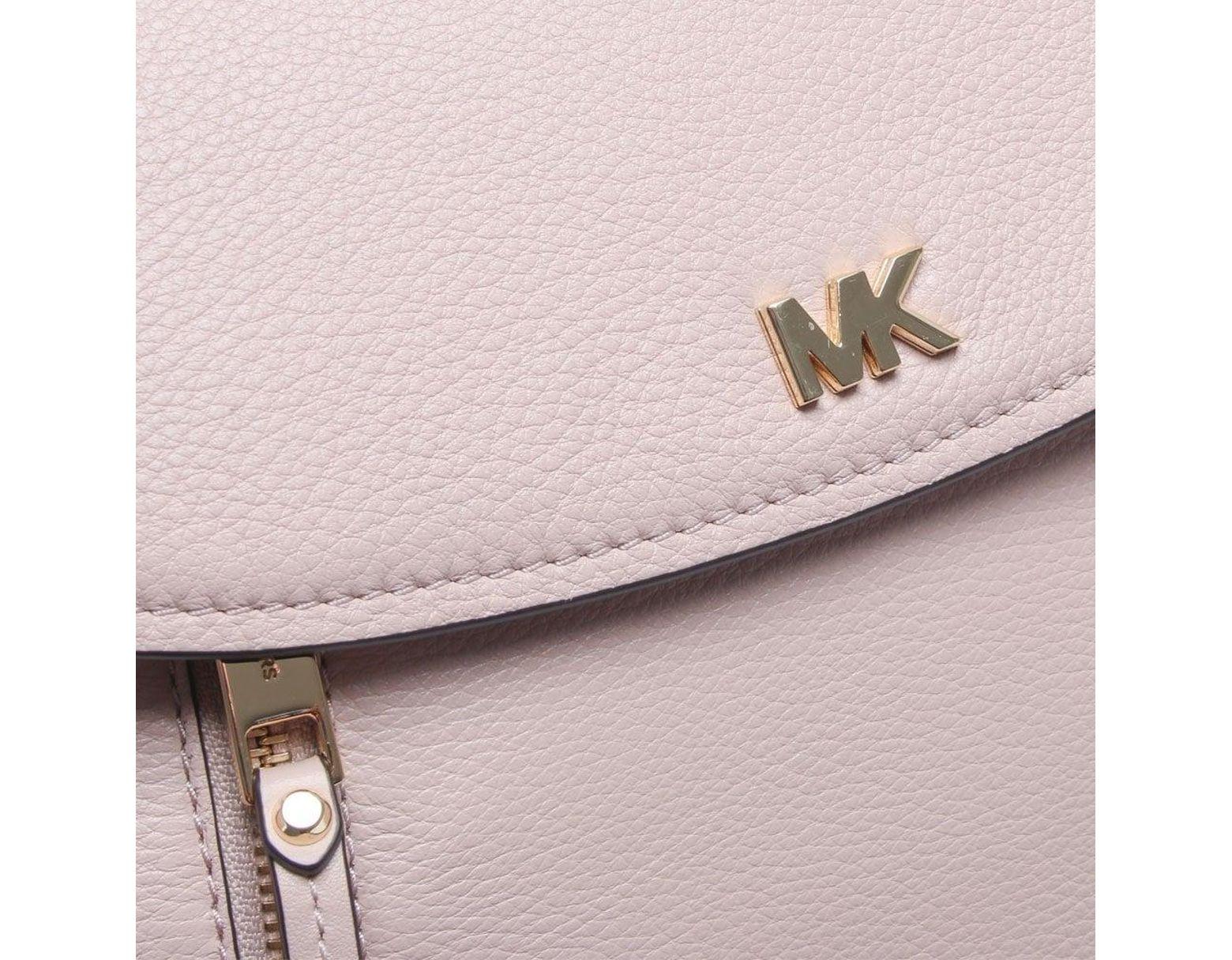 94a928f253d764 Michael Kors Medium Evie Soft Pink Leather Shoulder Bag in Pink - Lyst