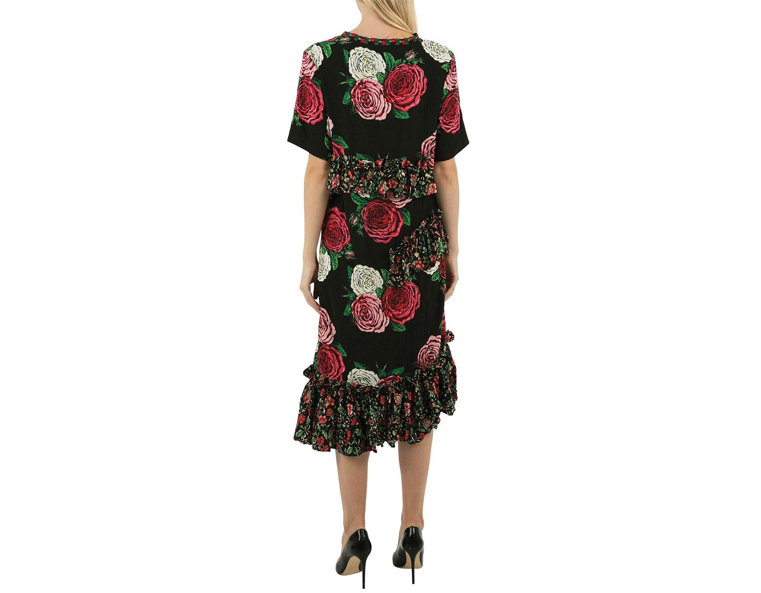 Women's Black Frilled Life Dress