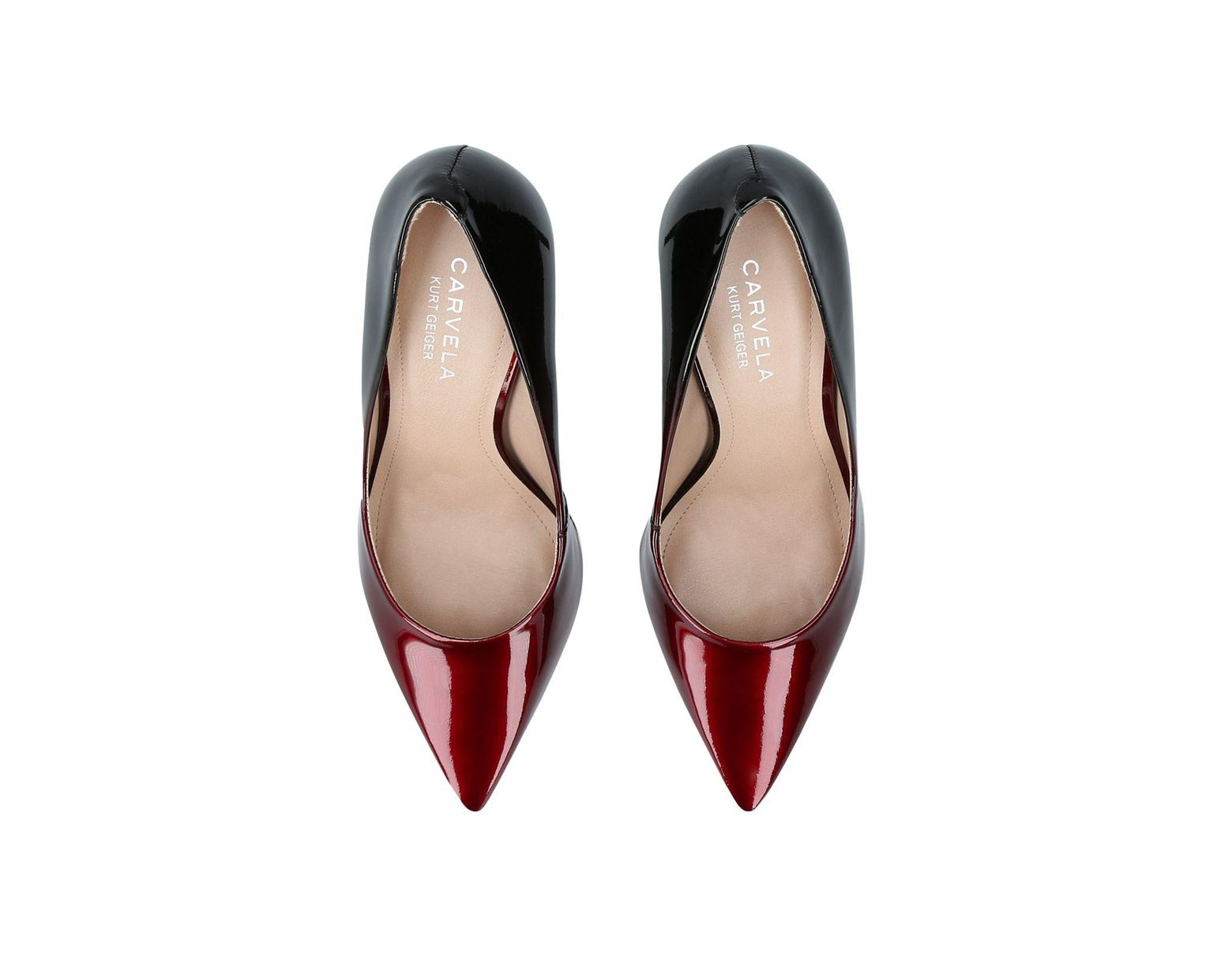 cc7da97702f Women's Red Alison Mid Heel Court Shoes