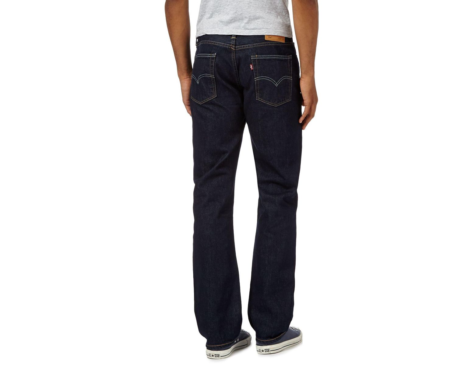 b7c0705088c Levi's Dark Blue One Wash '514' Straight Jeans in Blue for Men - Lyst