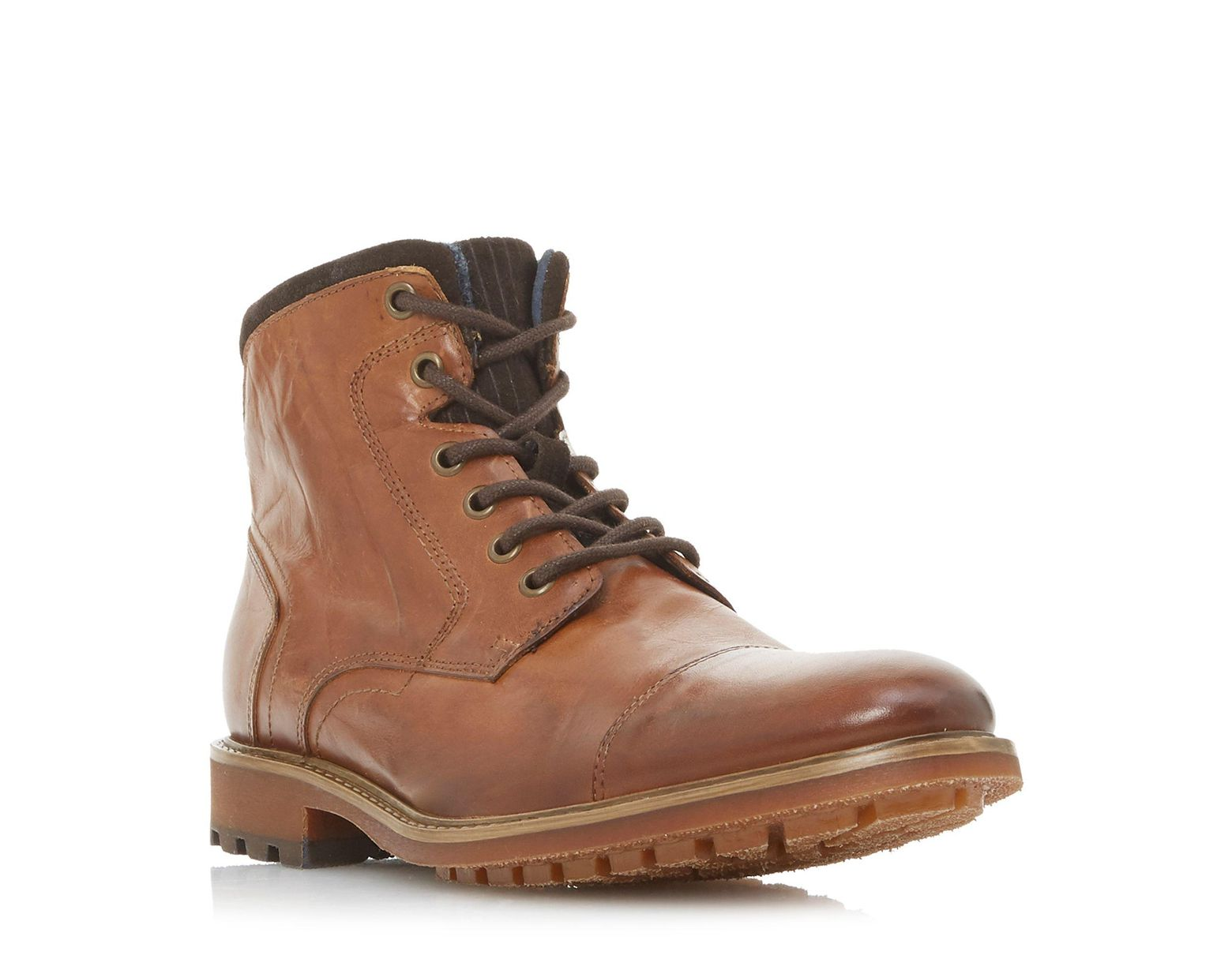 81aee67bdf3 Brown Men's 'chef' Toecap Lace Up Boots