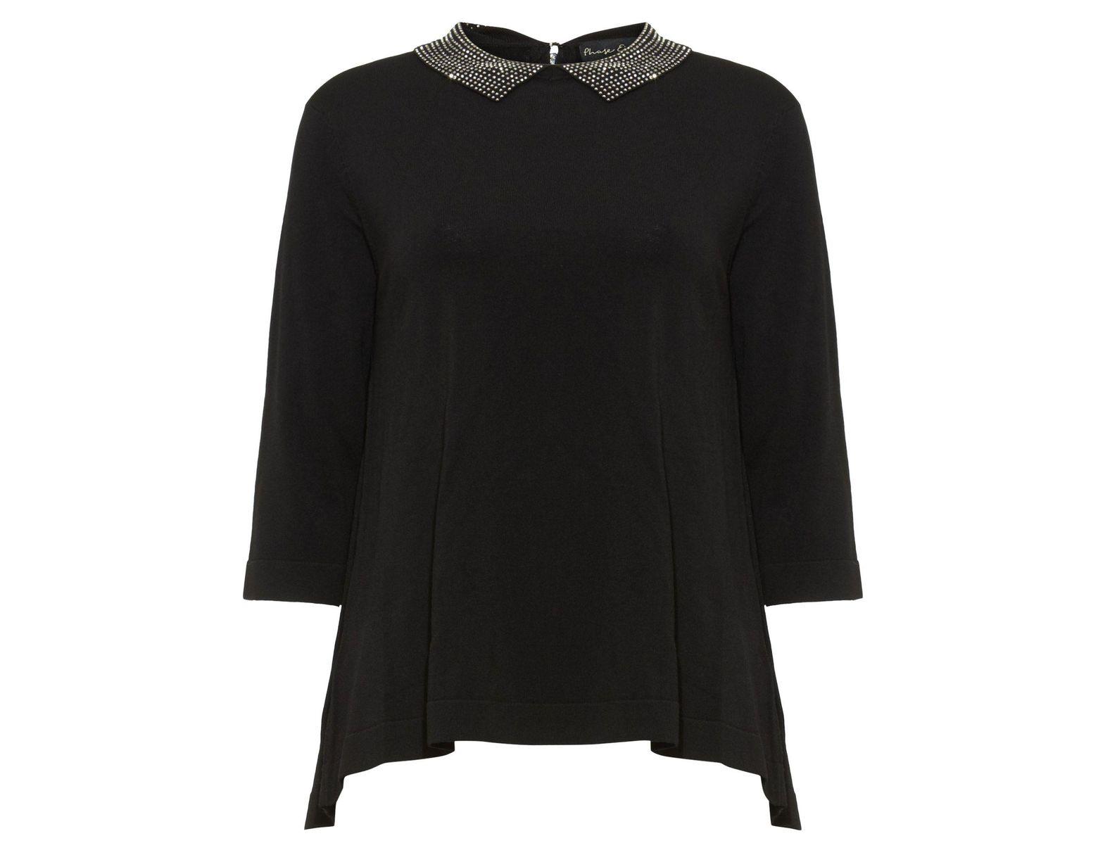 d5675f67a2f Women's Black Eliora Embellished Collar Knit Jumper