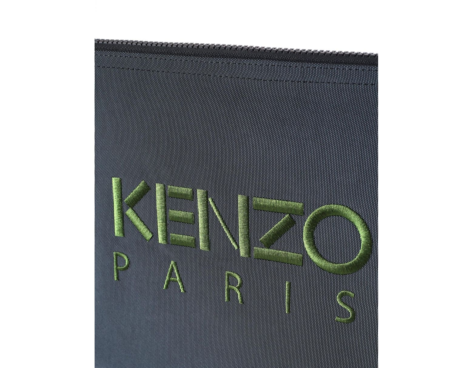 3b688b6403d KENZO A4 Men's Embroidered Tiger Clutch Dark Grey in Gray for Men - Save  48% - Lyst
