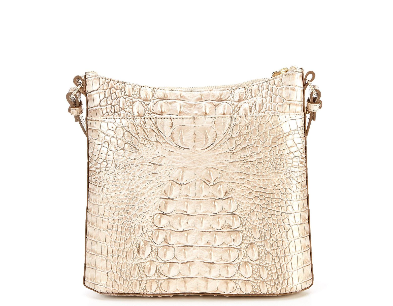 96b6801244faa Brahmin Melbourne Collection Katie Crocodile-embossed Crossbody in Natural  - Lyst