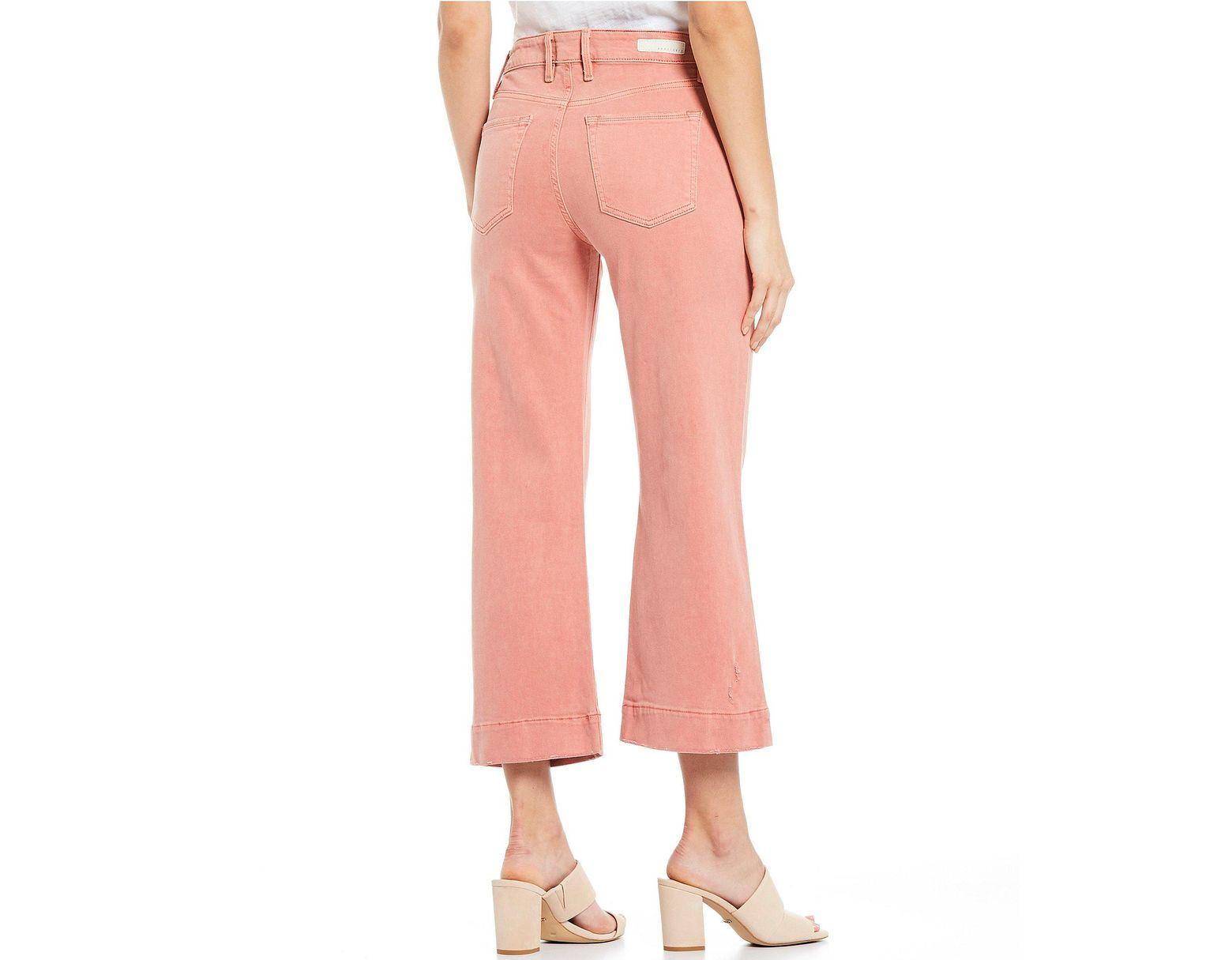 def9b0e2 Sanctuary Non Conformist Wide Leg Crop Jeans in Pink - Lyst