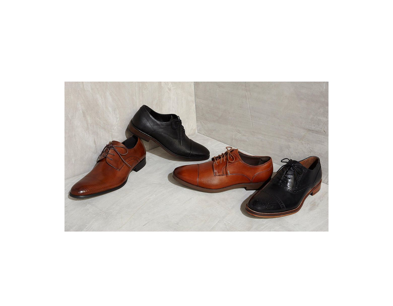 6ea7b623b Kenneth Cole Straight Line Dress Shoes in Black for Men - Lyst