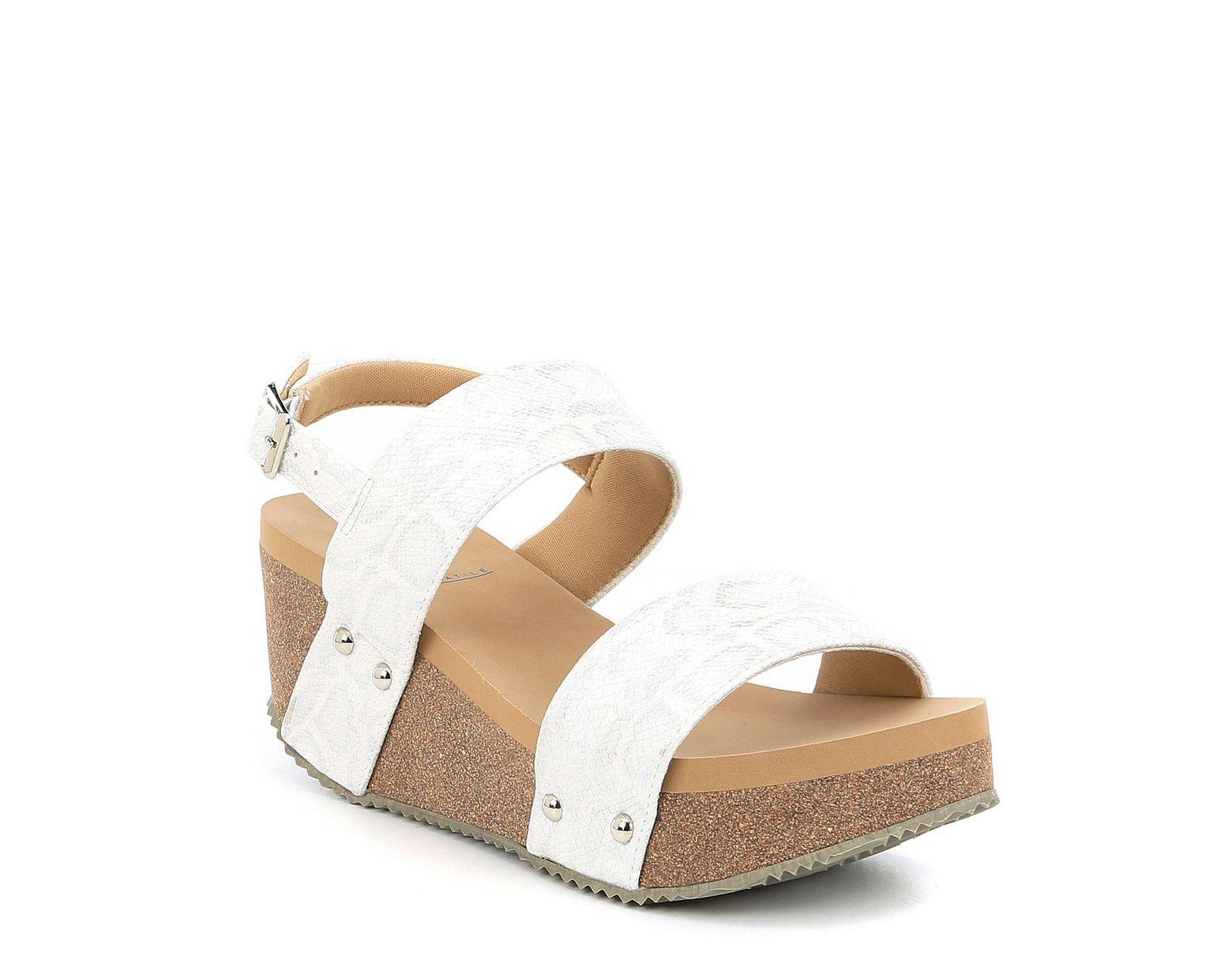Sling Banded Snake Wedge Sandals White Summer Love Women's 8Pw0XnOk
