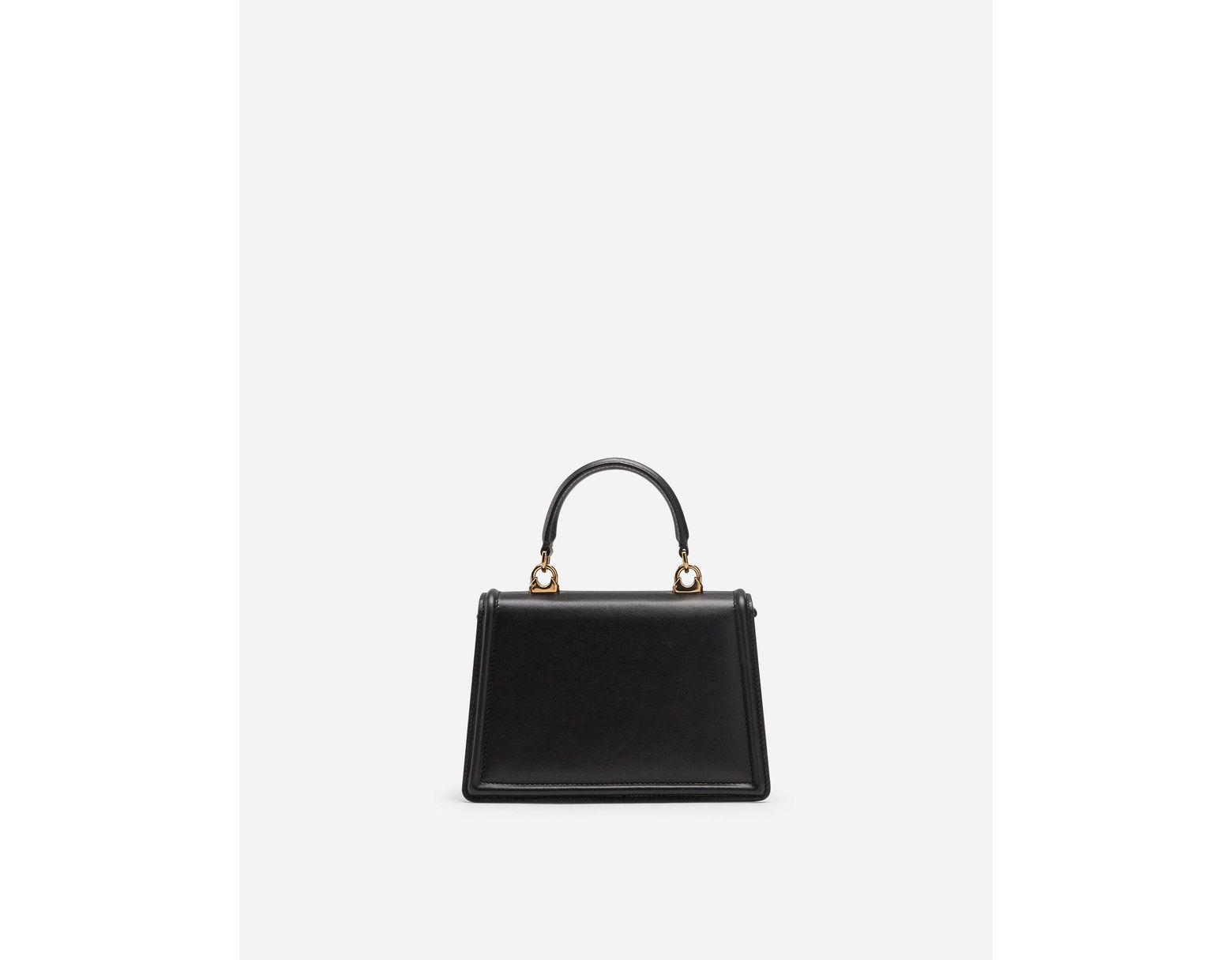 6582a981cee Dolce & Gabbana Small Devotion Bag In Plain Calfskin in Black - Save 30% -  Lyst
