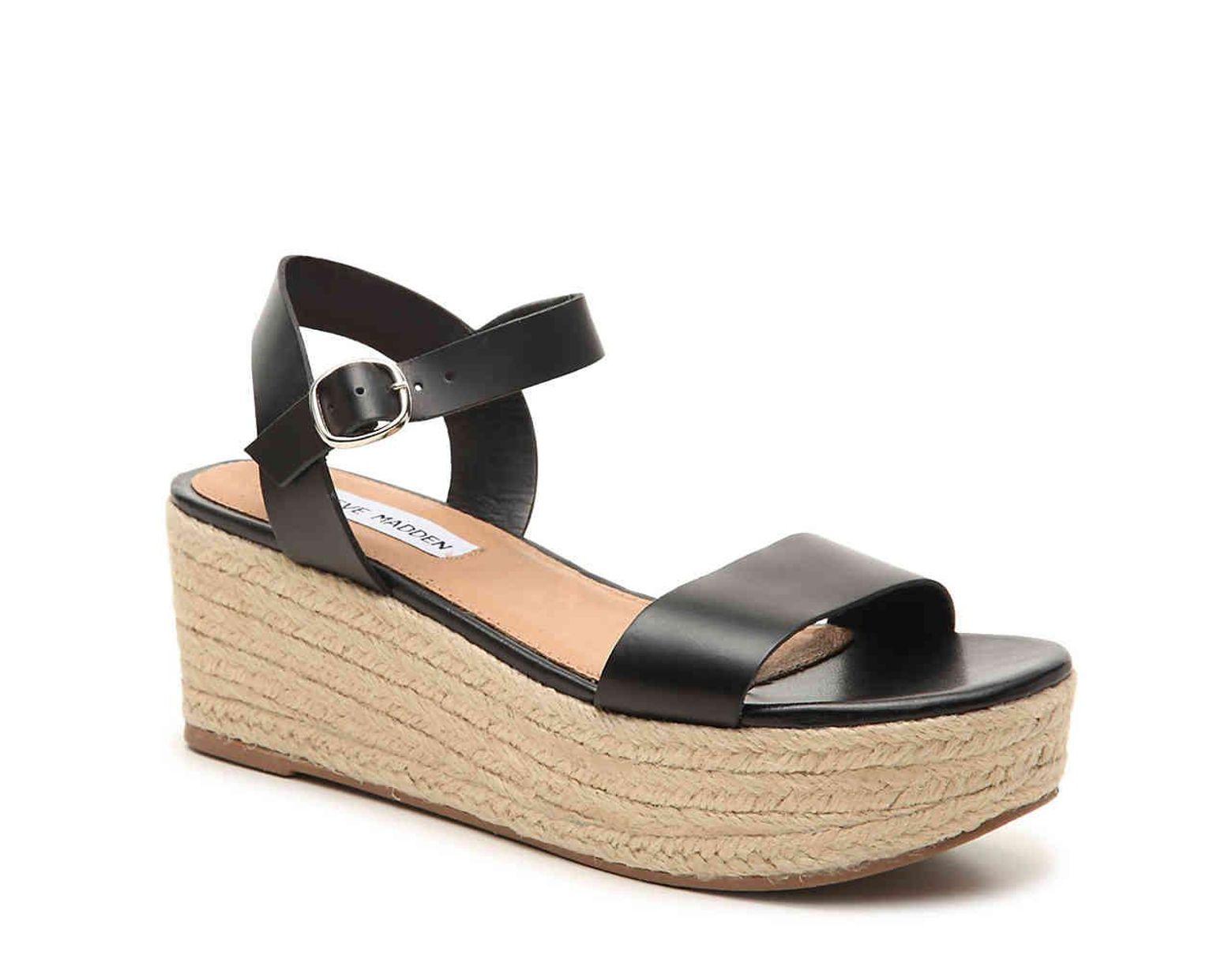a9d7cb0b0df Women's Black Brandice Espadrille Wedge Sandal