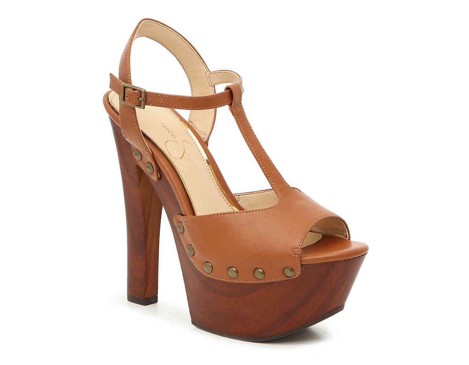 abc94d3911 Jessica Simpson Desila Platform Sandal in Brown - Lyst