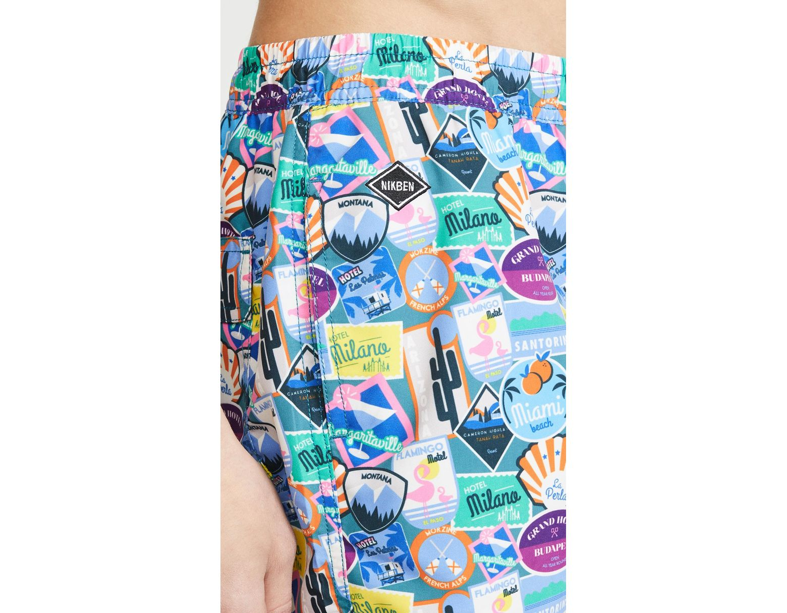 0d8c402a62 Nikben City Sticker Swim Trunks in Blue for Men - Save 49% - Lyst