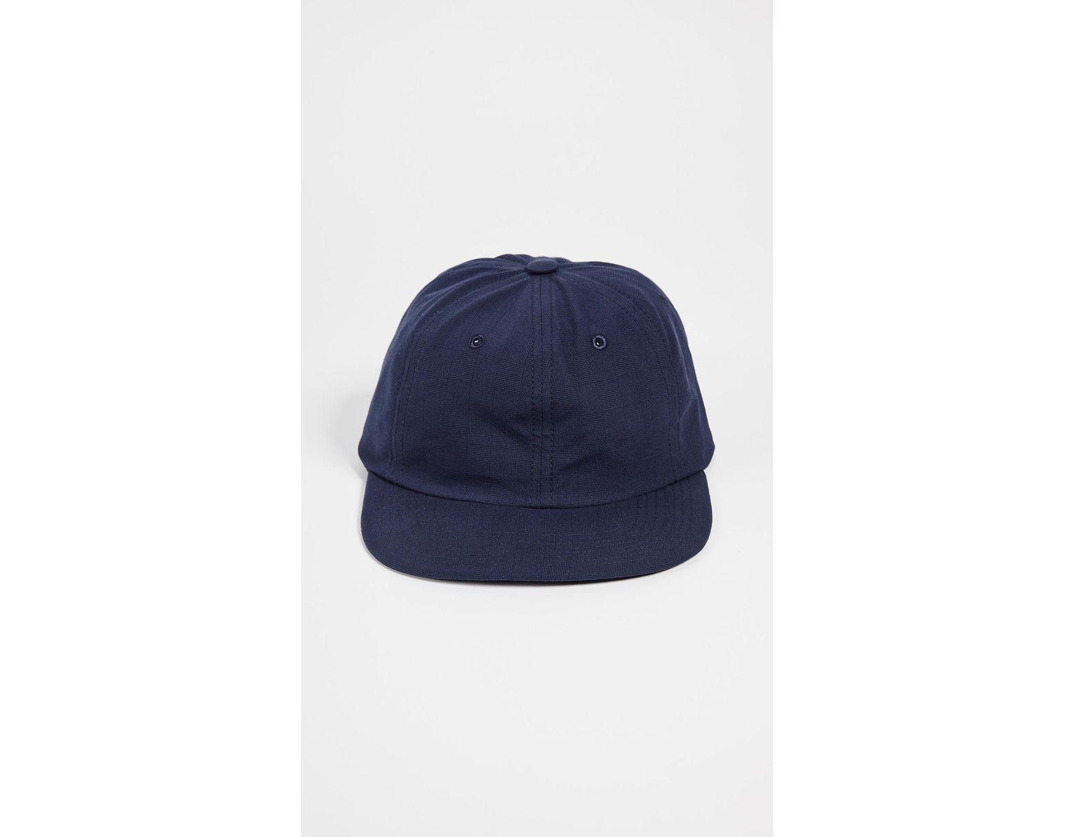 6a77693d0302e0 Maison Kitsuné Kissing Foxes Baseball Cap in Blue for Men - Save 9% - Lyst