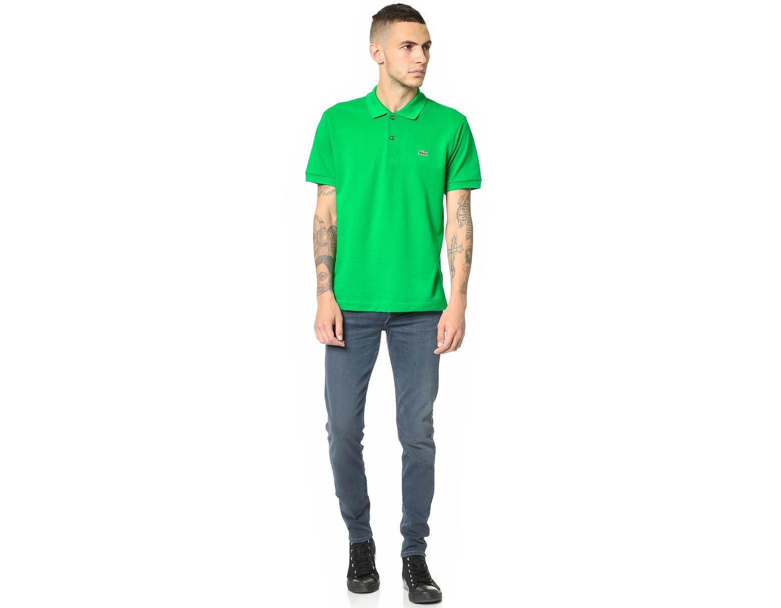 f3db03a9 Men's Green Short Sleeve Classic Pique Polo